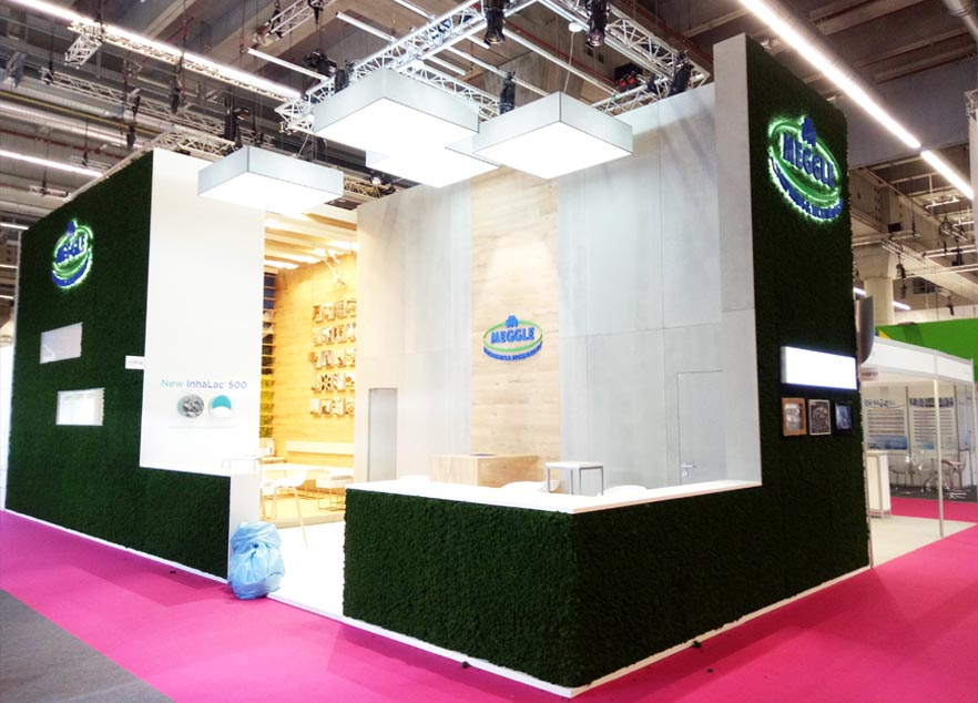 CPHI China Exhibition Stand Construction For Meggle