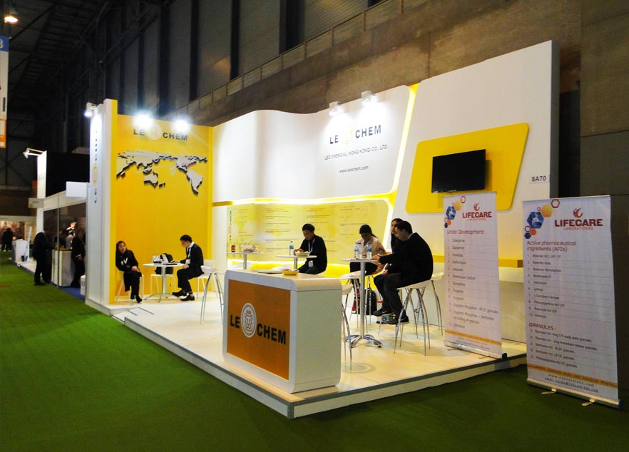 China exhibition stand design for CPHI China